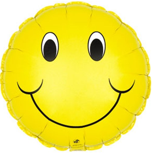 Glad Smiley Face ballon med helium.