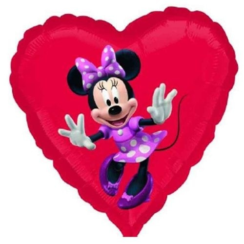 Send en ballon Minnie Mouse hjerte med helium