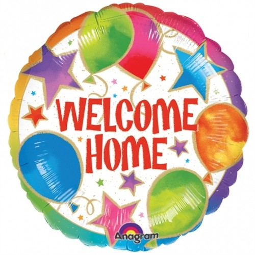 Send en ballon  Welcome Home! med helium