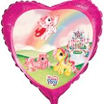 Send en ballon My Little Pony Castle med helium