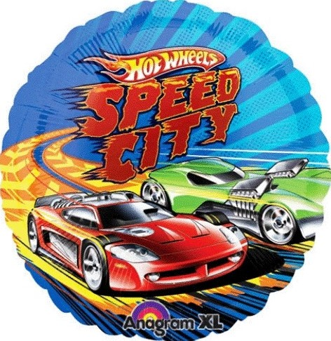 Send en ballon Hot Wheels Speed City med helium